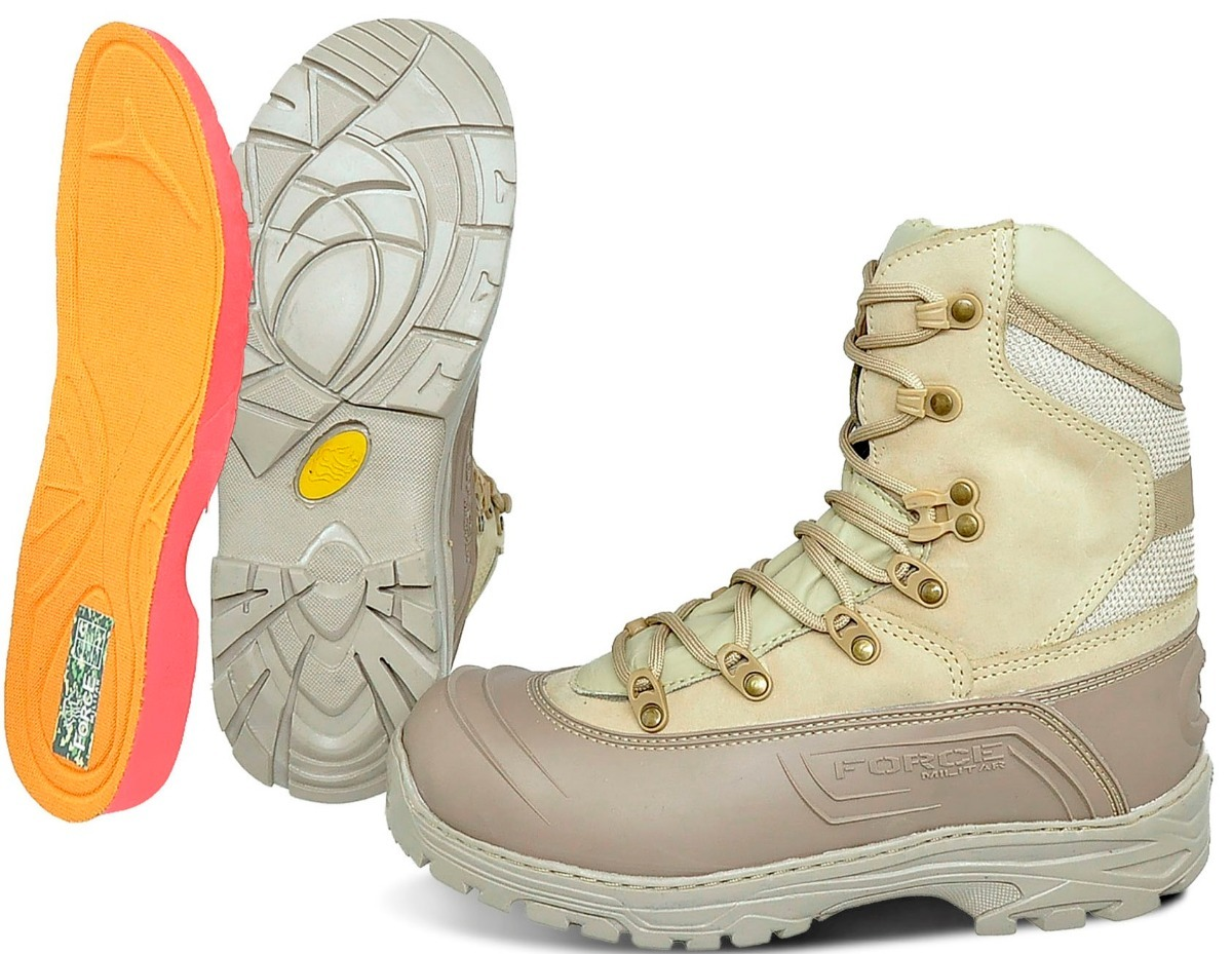 9b2ceb31bf9 bota coturno cano alto force militar couro legitimo palm.gel. Carregando  zoom.