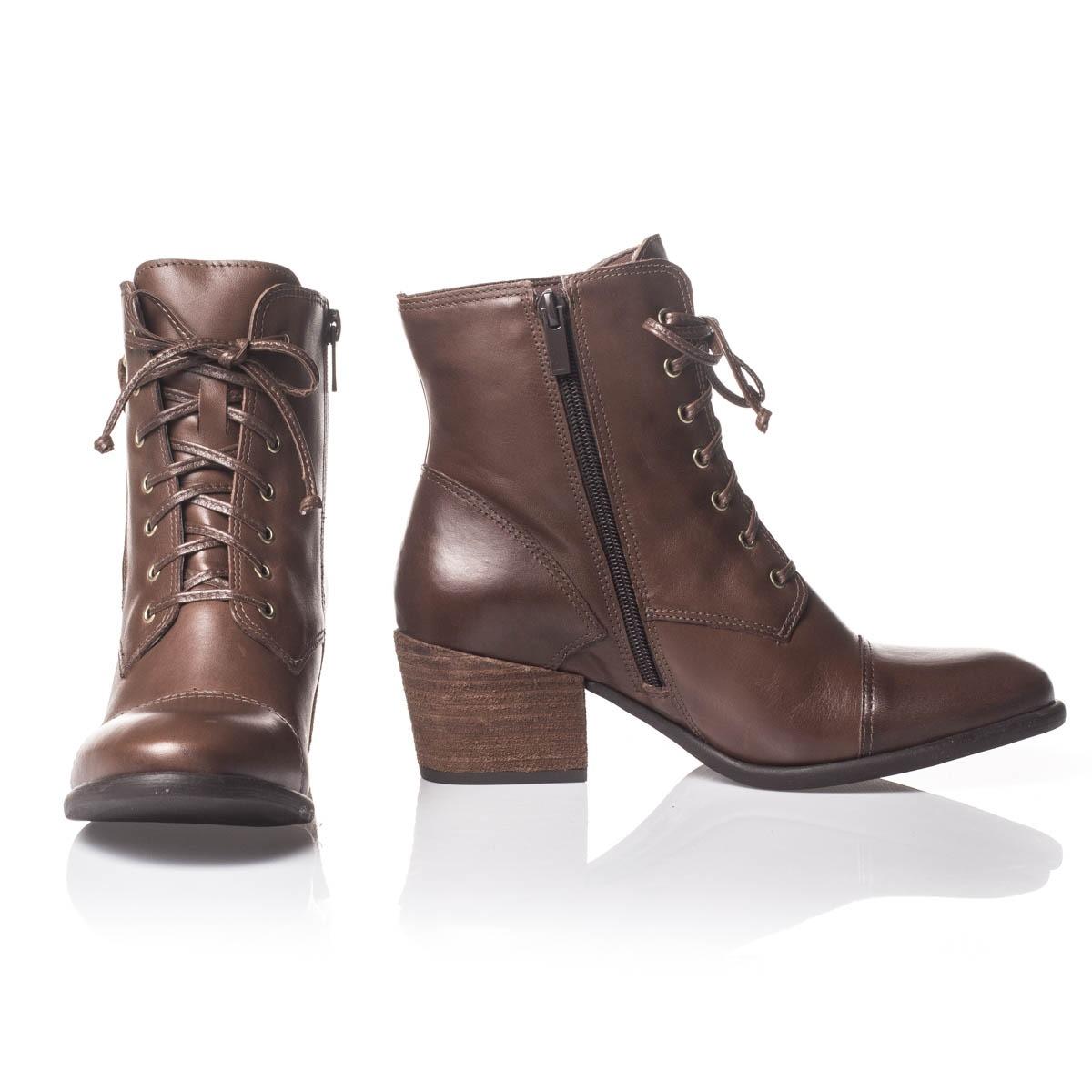 ... bota coturno cano baixo feminina cadarço parô couro - zíper. Carregando  zoom. df4a9821e68036 ... e618da9771da9