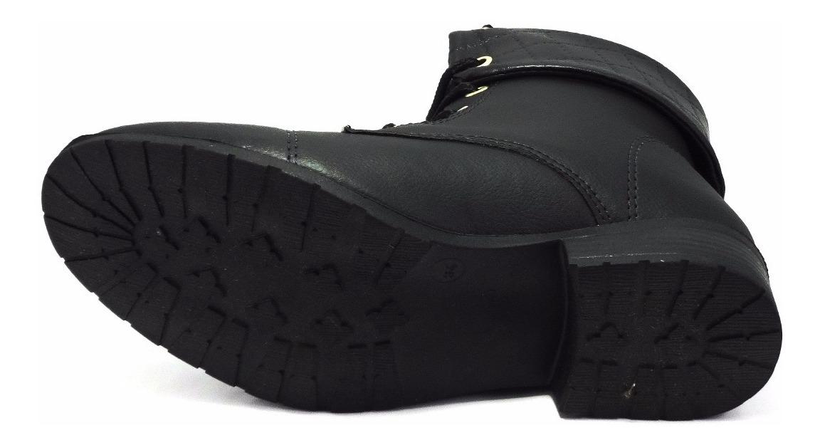 1c0d6dbdb9 bota coturno cano curto baixa ankle boots feminina montaria. Carregando  zoom.
