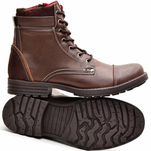bota coturno casual masculino botinha lançamento dhlcalçados