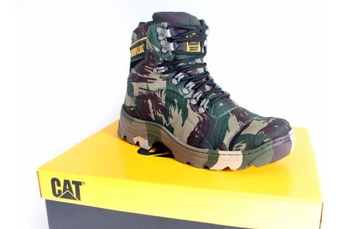 bota coturno cat caterpillar camuflada original lançamento