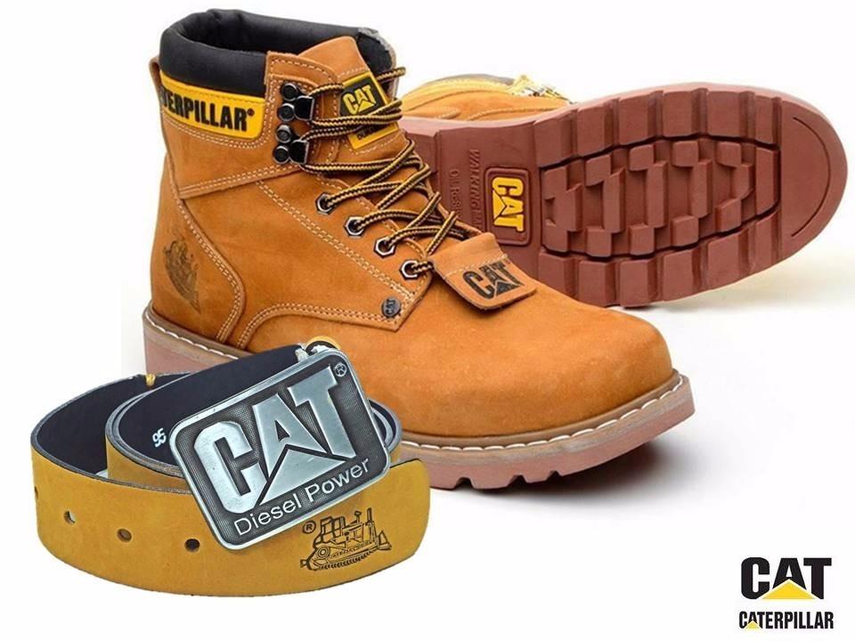 8fd64308eba bota coturno + cinto caterpillar men´s cat original amarelo. Carregando  zoom.