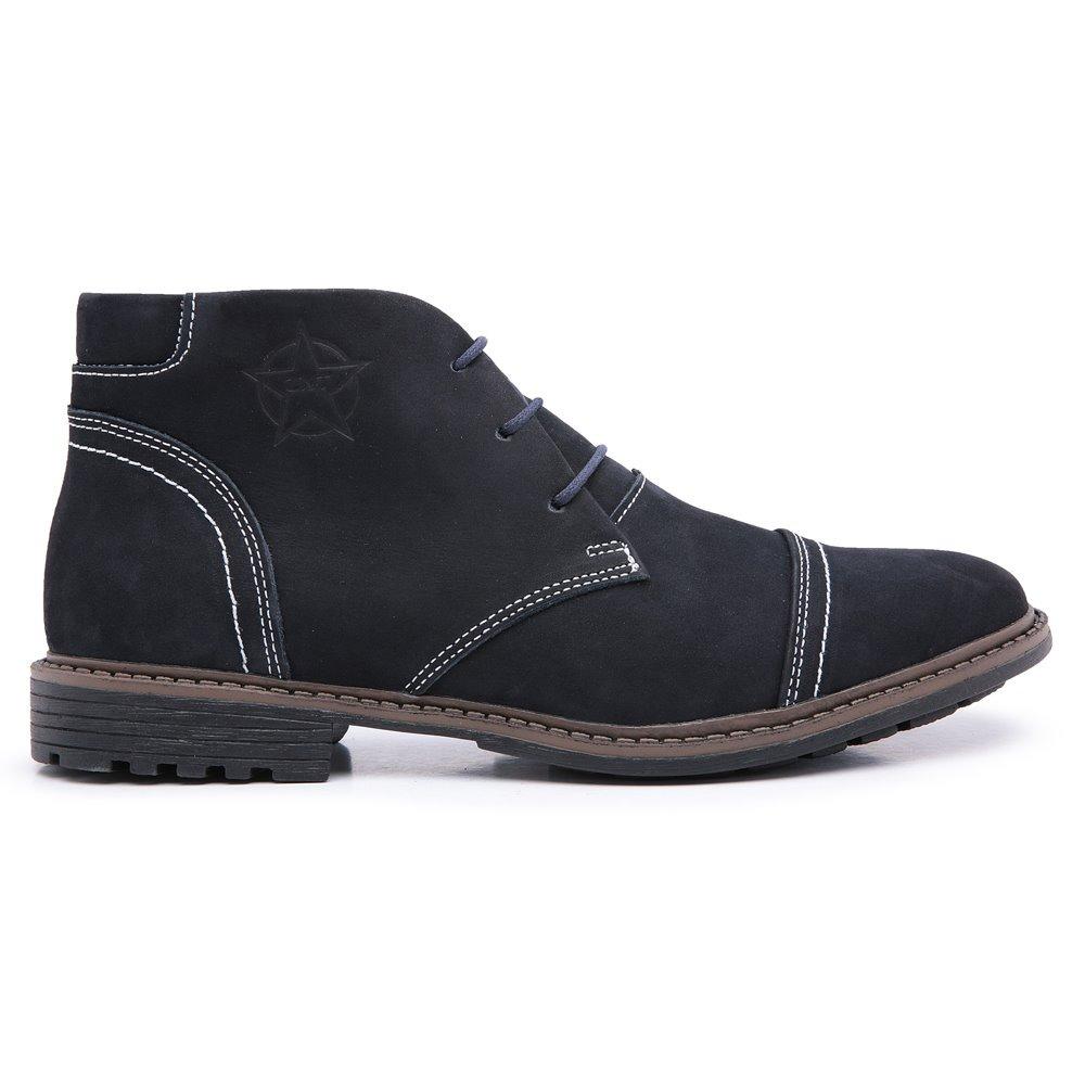4189b95f6e bota coturno couro cano curto masculino estilo europeu 2019. Carregando zoom .