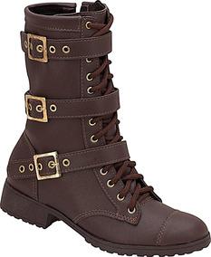 8c55a9434f Bota Coturno Estilo Militar Preço De Fábrica Véria Calçados