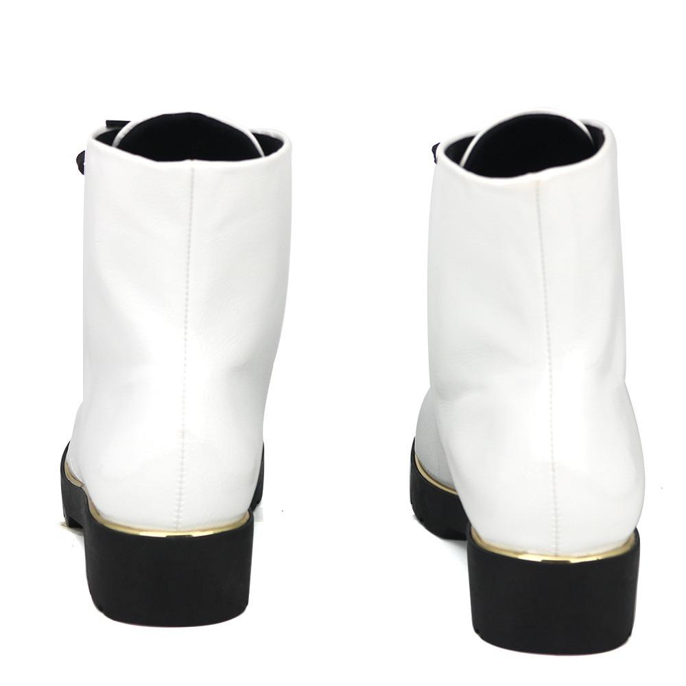 77b876315 Promoção Bota Ankle Coturno Feminino Quiz 69-55804 Branco - R$ 99,99 ...