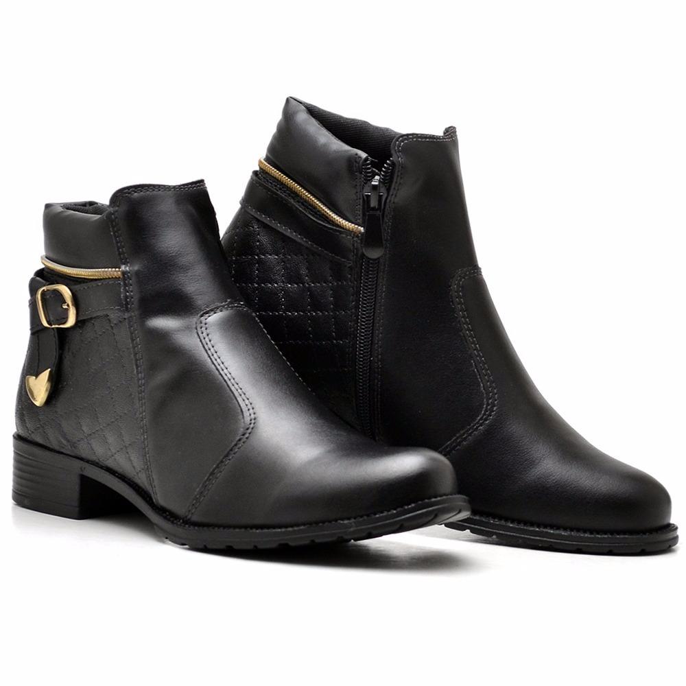 249da61e5 bota coturno feminino cano curto medio com ziper lateral. Carregando zoom.