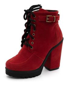 0a8063bf14 Bota Vermelha Salto - Botas Femininas com o Melhores Preços no Mercado  Livre Brasil