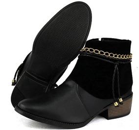 a6611321f Sapato Pontal Calçados Botas De Cano Curto Feminino - Sapatos no Mercado  Livre Brasil