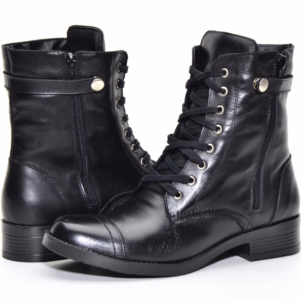 db98f2f90 bota coturno feminino couro combina mini saia linda demais. Carregando zoom.