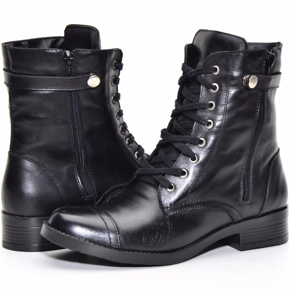 fda3189464 bota coturno feminino couro stilo botero via uno linda. Carregando zoom.