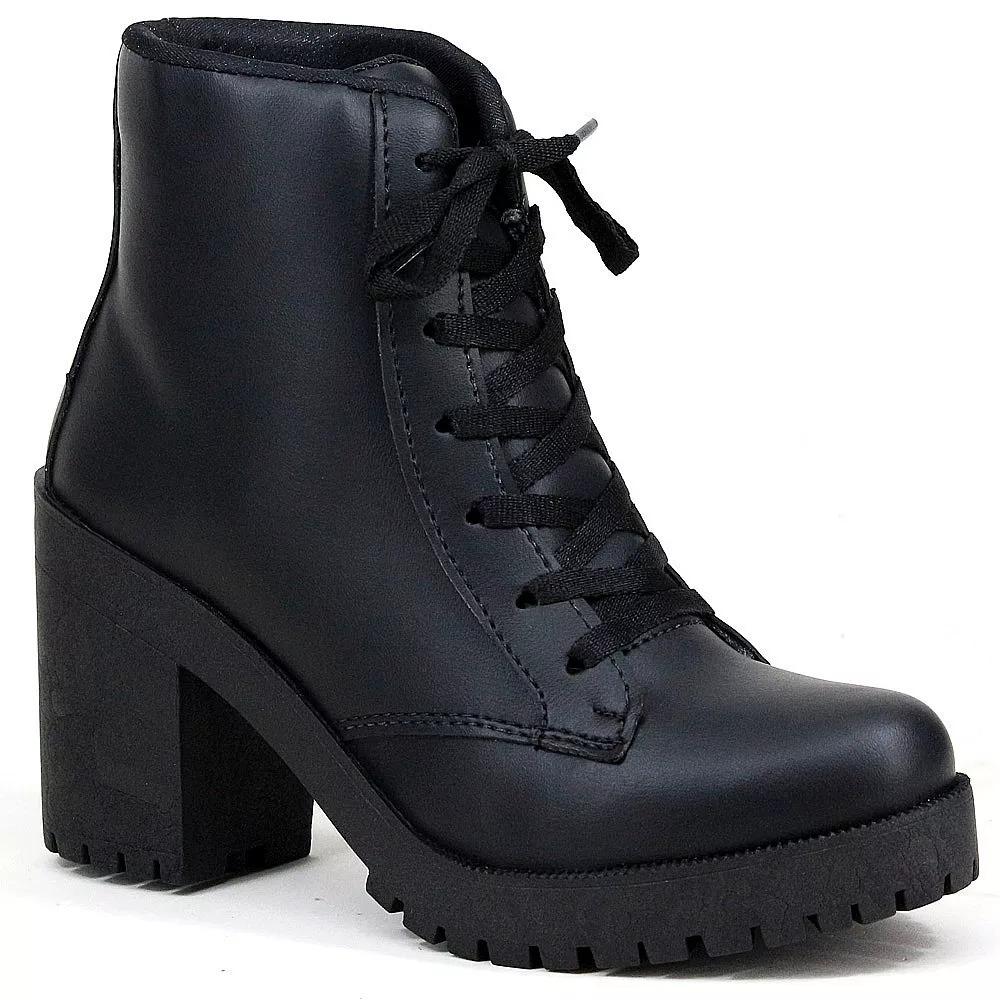 fddfda27c6 bota coturno feminino de couro solado tratorado oferta 2018. Carregando zoom .