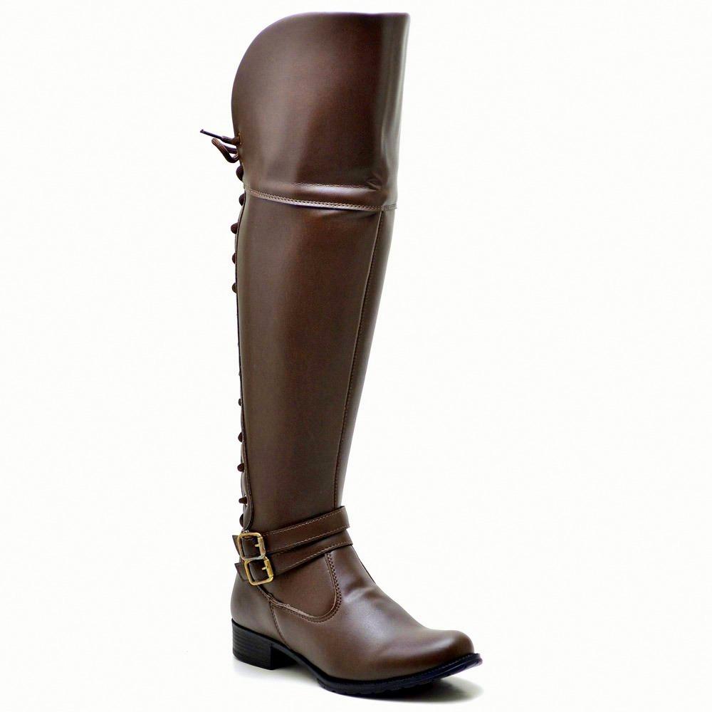 f04d7e78b bota coturno feminino over the knee cano longo acima joelho. Carregando zoom .