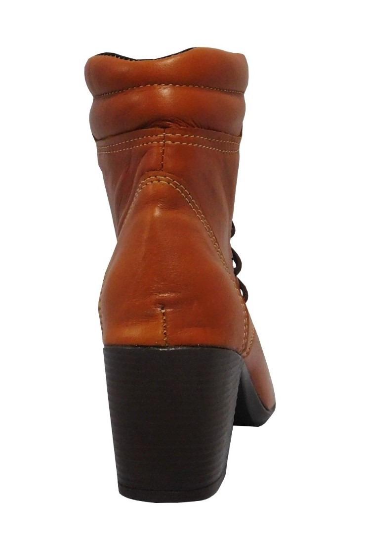 1ec66d8db bota coturno feminino salto alto cano curto couro legítimo. Carregando zoom.