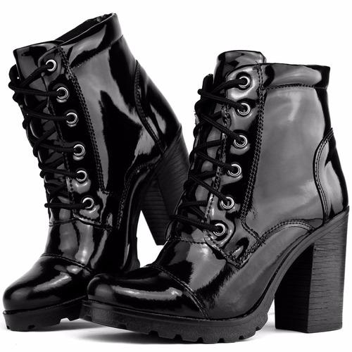bota coturno feminino salto alto tratorada dhl calçados