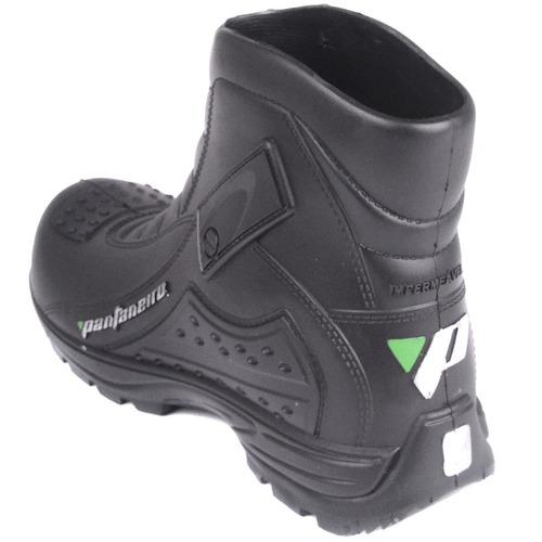 bota (coturno) impermeável curta sport pvc moto pantaneiro