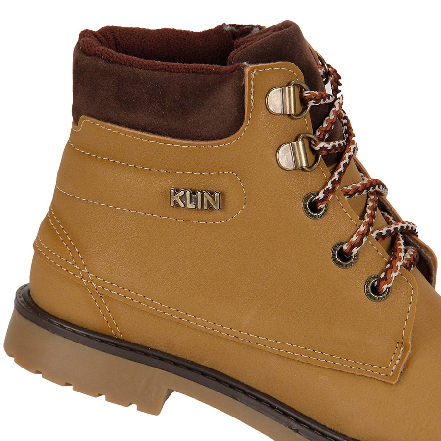 41b516380 Bota Coturno Infantil Klin - Amarelo - R$ 159,99 em Mercado Livre