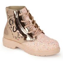 646d7980d9ffa Bota Coturno Feminino Sua Cia Metalizado Sapatos - Botas com o ...