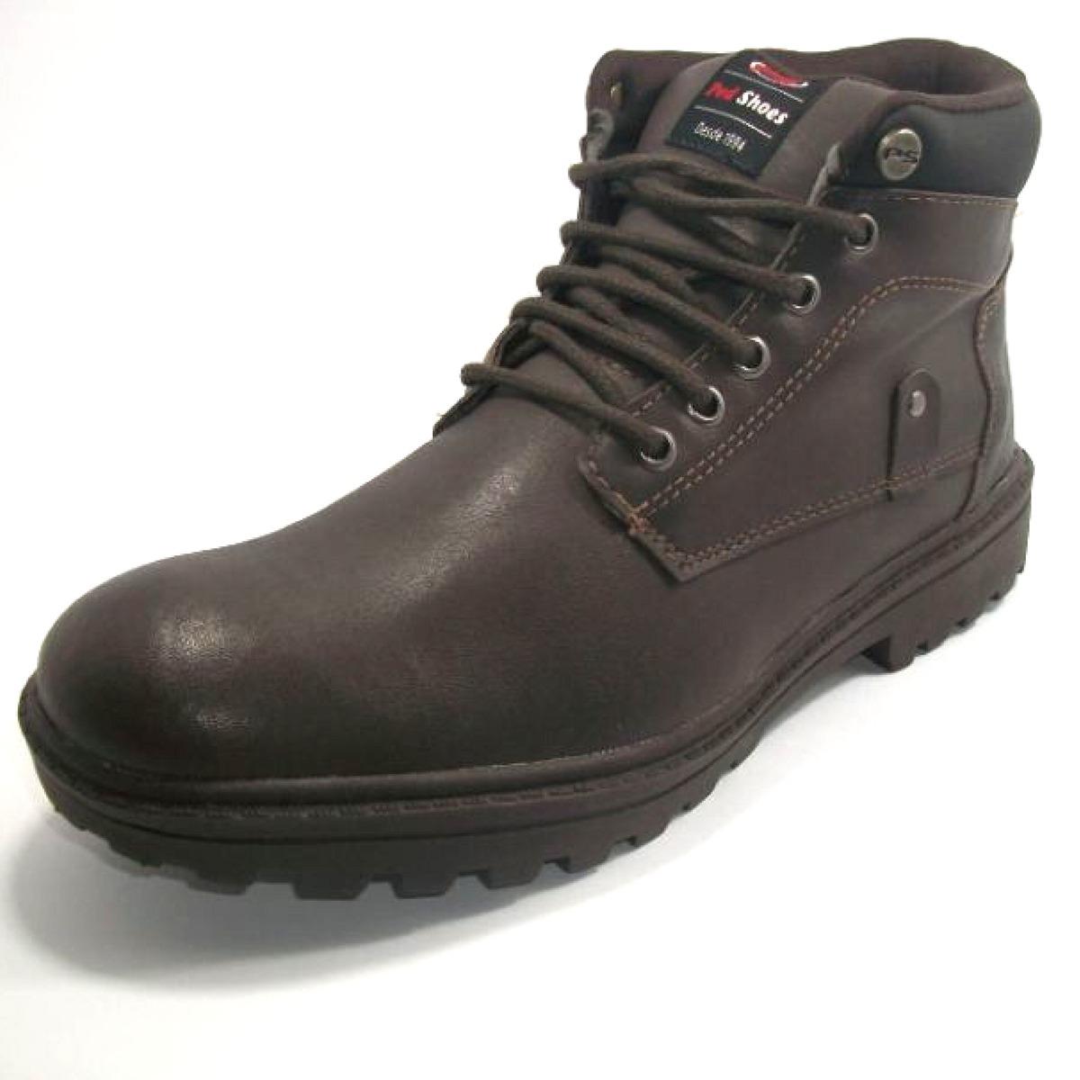 f31b8f3fb bota coturno masculina ped shoes cor café preto - promoção. Carregando zoom.