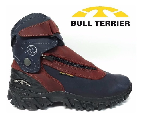 bota coturno masculino bull terrier soldier couro natural