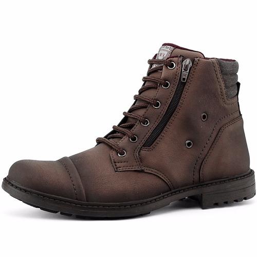 bota coturno masculino calçados