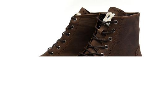 bota coturno masculino cano curto tamanho especial 56160/1