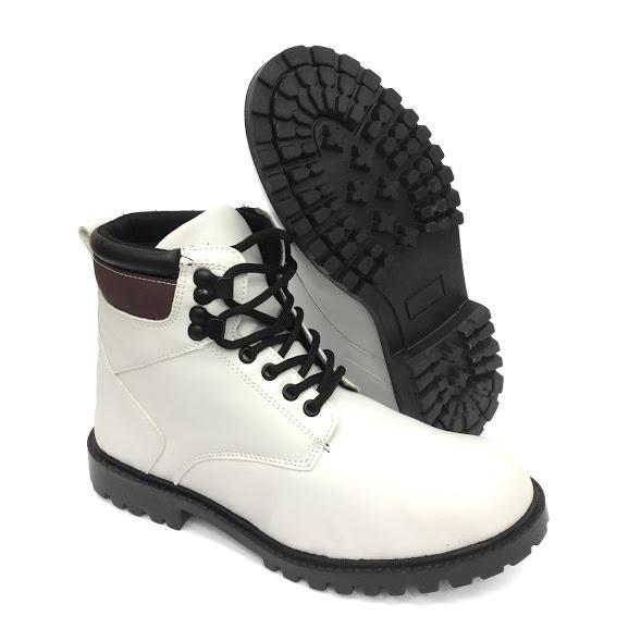 793e744415 Bota Coturno Masculino Sapato Adventure Cano Médio Branco - R  69