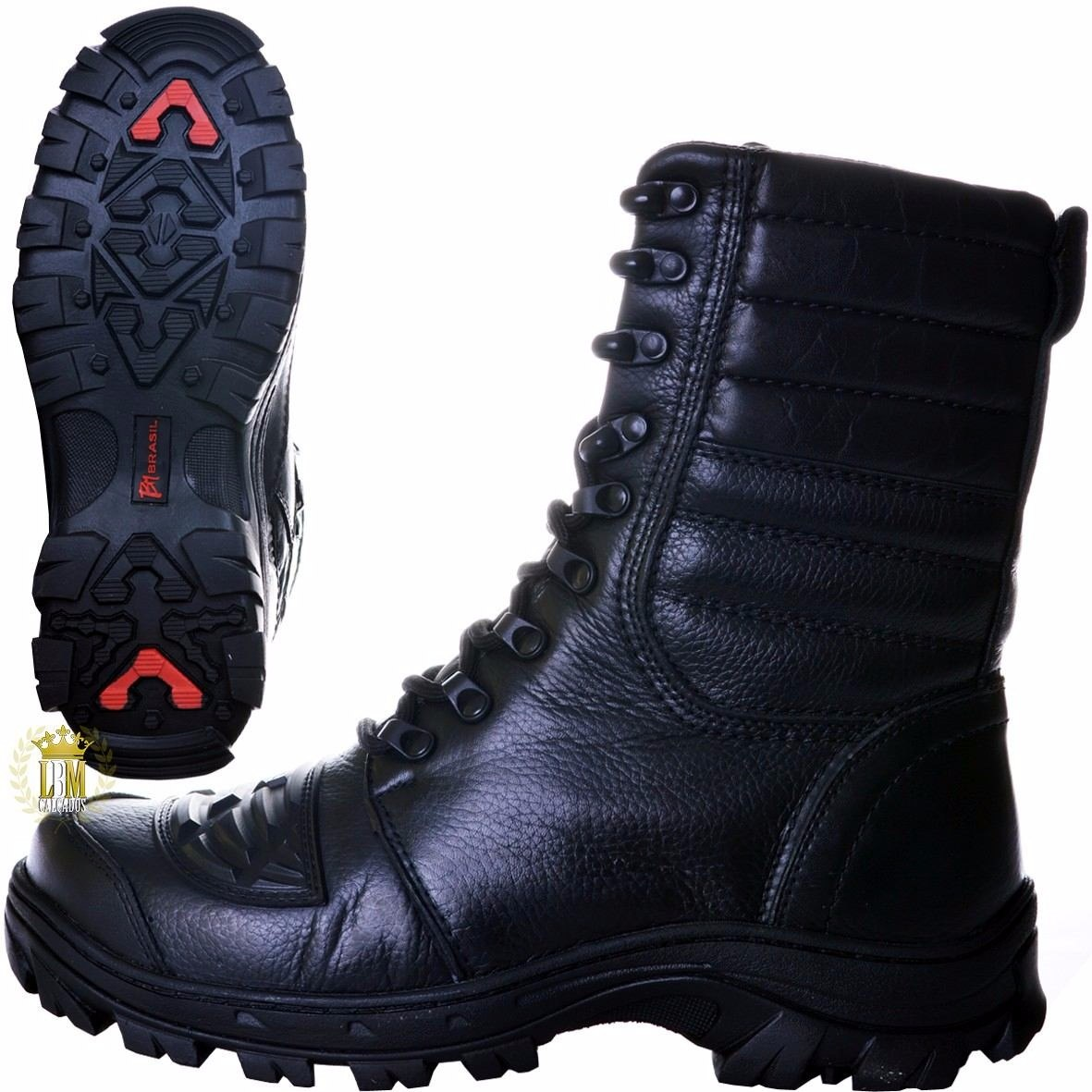 ac24600a5 bota coturno militar/motociclista/tático/promoção dos pais. Carregando zoom.