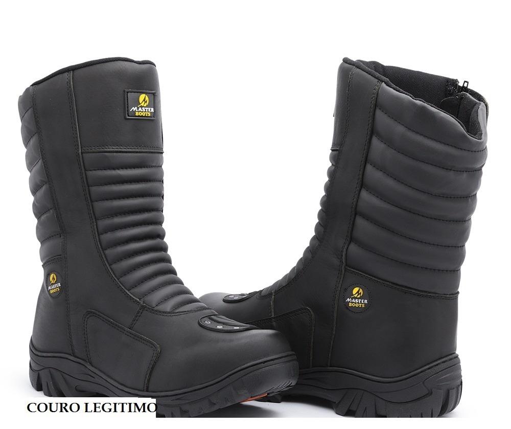 bdefbb470 bota coturno moto cano longo ziper semi impermeavel+palm gel. Carregando  zoom.