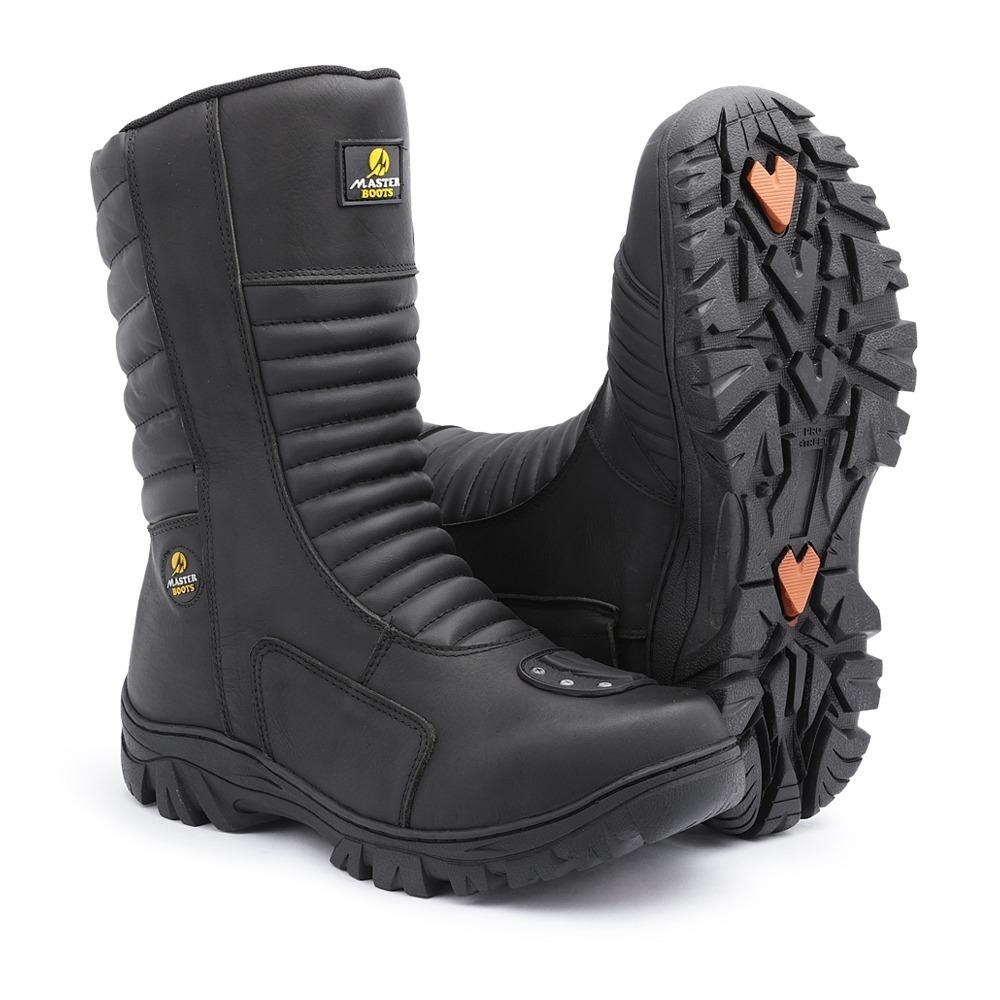 b31e8777a6 bota coturno moto cano longo ziper semi impermeavel+palm gel. Carregando  zoom.