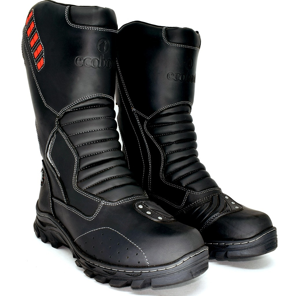 1b6d0cafc9 bota coturno motociclista road couro cano alto impermeável. Carregando zoom.