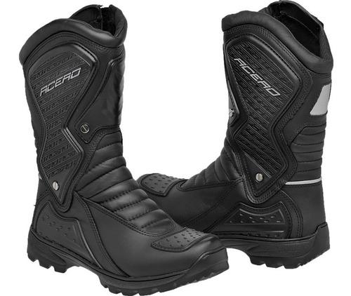 bota coturno motocross padrão americano ziper confort gel