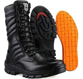fb665d65fe Coturno Militar Masculino De Couro Legítimo Com Ziper - Botas com o ...
