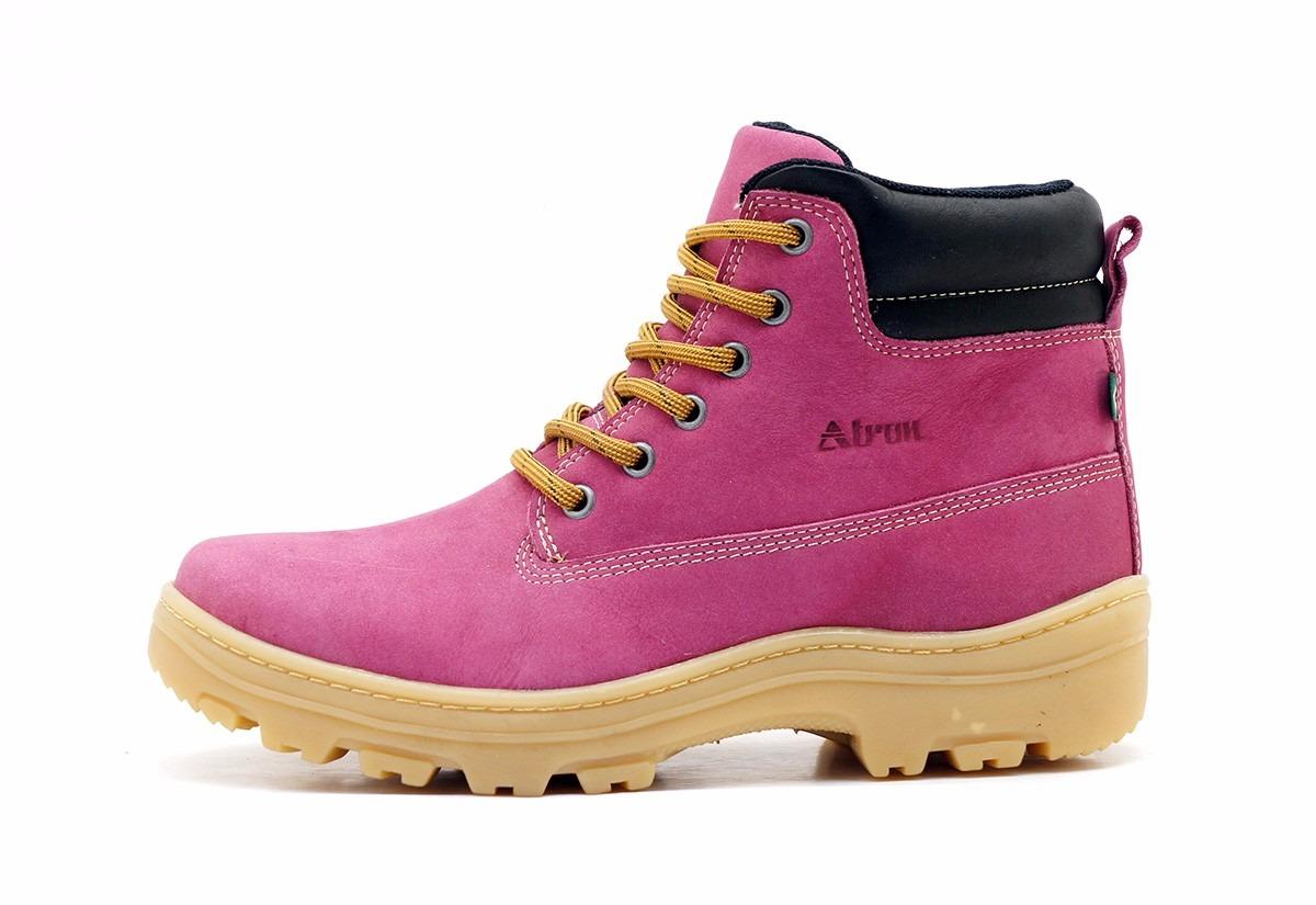 89ab965ed3 bota coturno rosa feminino lançamento 100% couro rustica. Carregando zoom.