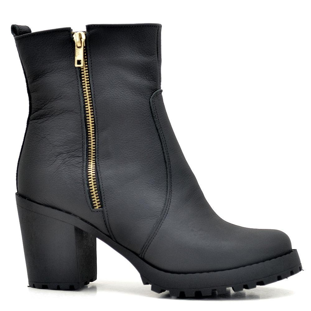 37afa7b9793 bota coturno sapato feminino couro solado tratorado. Carregando zoom.