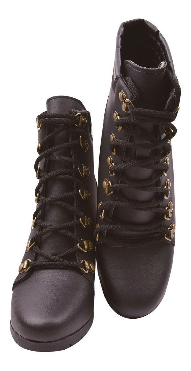 451873e0d4 bota coturno sapato feminino tratorada salto cano curto grl. Carregando zoom .
