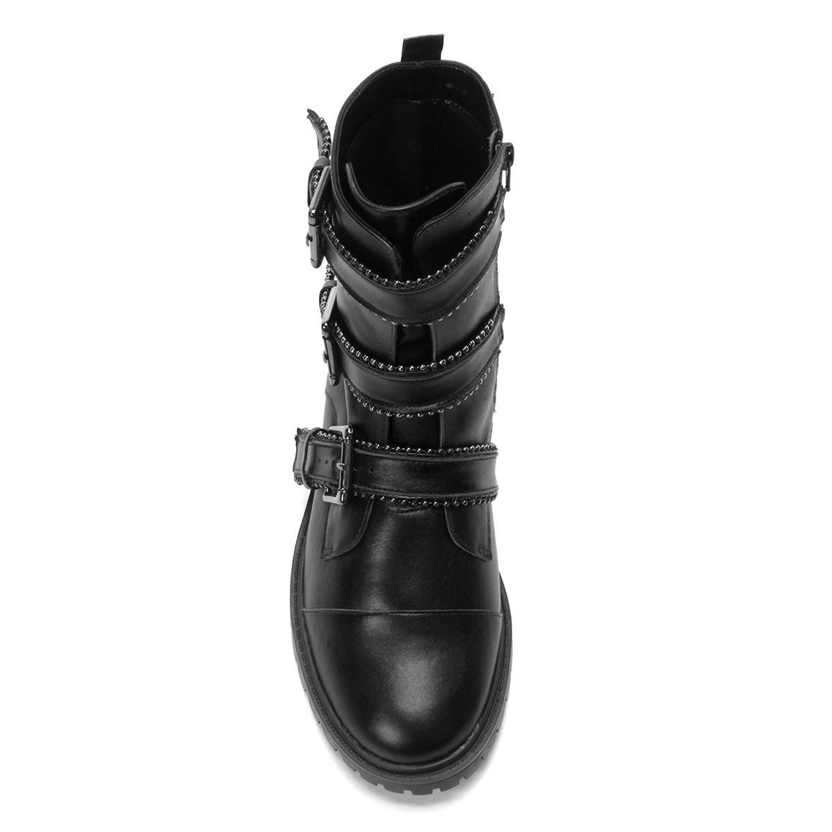 b3ea6e260 Bota Coturno Shoestock Couro Fivelas Feminina - R$ 449,90 em Mercado ...