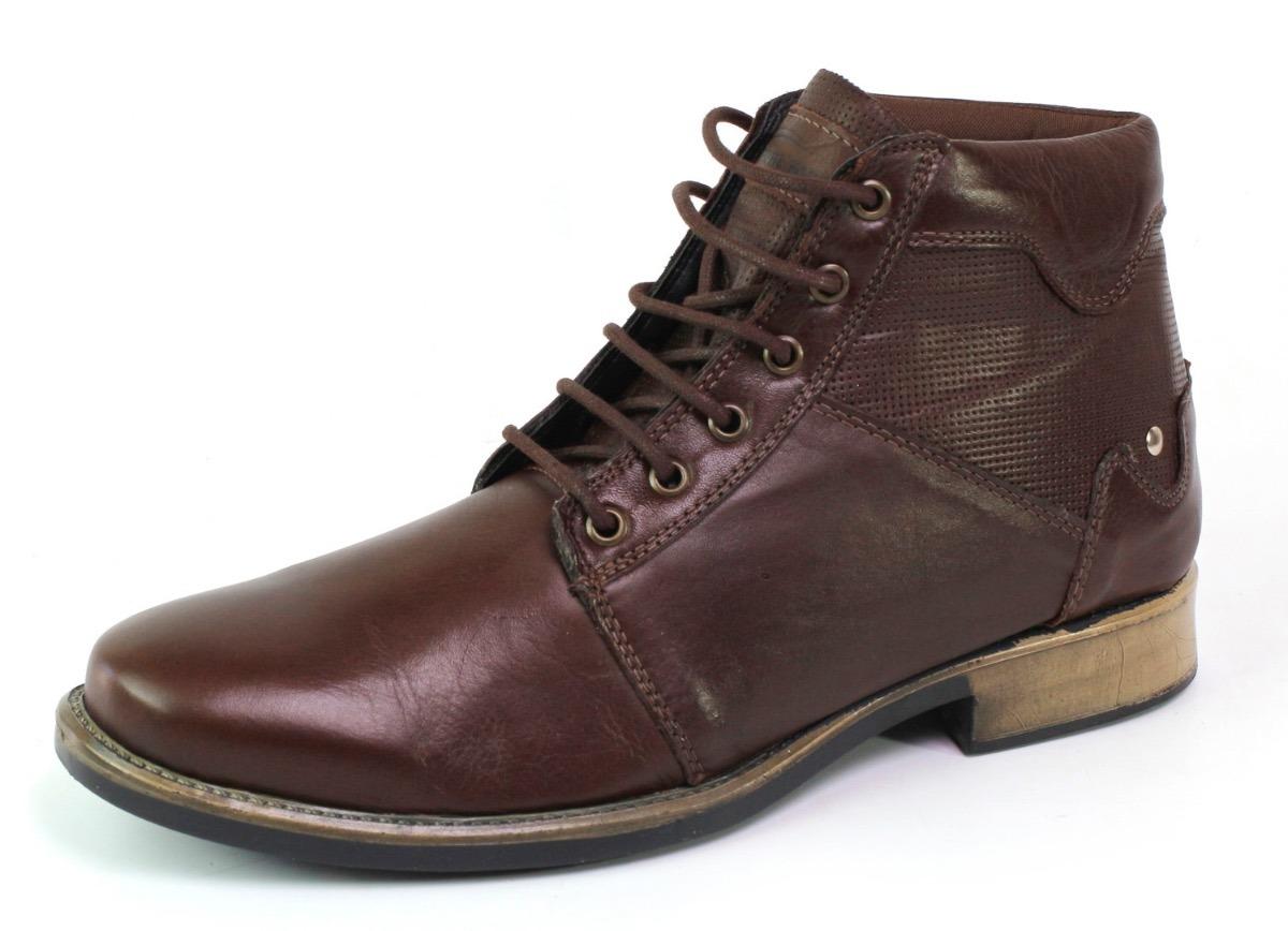 7fe4883b670 bota coturno social masculina couro legítimo cano medio. Carregando zoom.