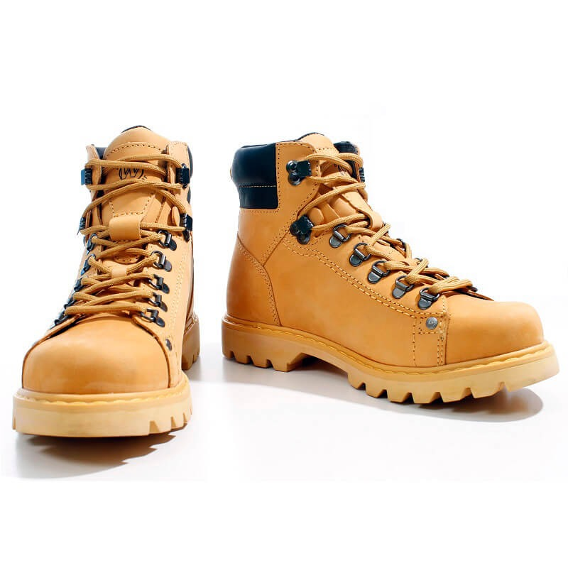 bd124be57c Bota Coturno West Coast Worker Amarela 5790 Couro Natural - R  279 ...