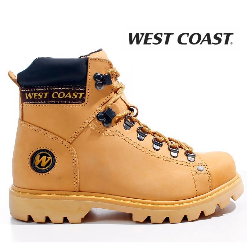 771d700e1c Bota Coturno West Coast Worker Amarela 5790 Couro Casa-aliel - R ...