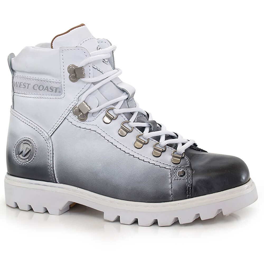 7ef8d48c71 bota coturno west coast worker classic branca - way tenis. Carregando zoom.