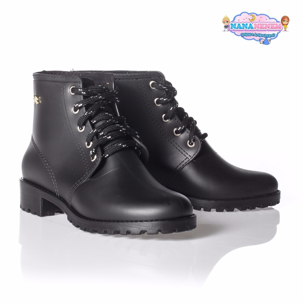 d9cbaa7d37 Bota Coturno World Colors Lali Preto Imperdivel Cód: 454 - R$ 69,90 ...