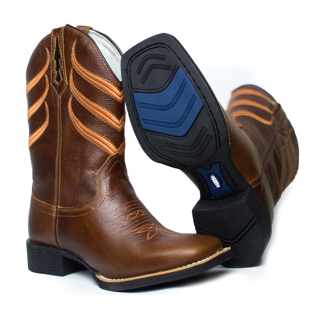 ... bota country bico quadrado masculina marrom couro cano longo. Carregando  zoom. 439d4c1471de3f  Bota Country Feminina Texana ... 6b6c0b79afb