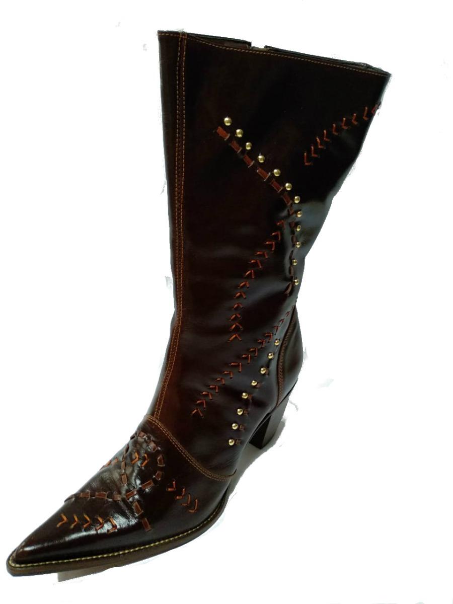 bota country cano longo texana couro feminina promoção. Carregando zoom. 1084f9d8d0d