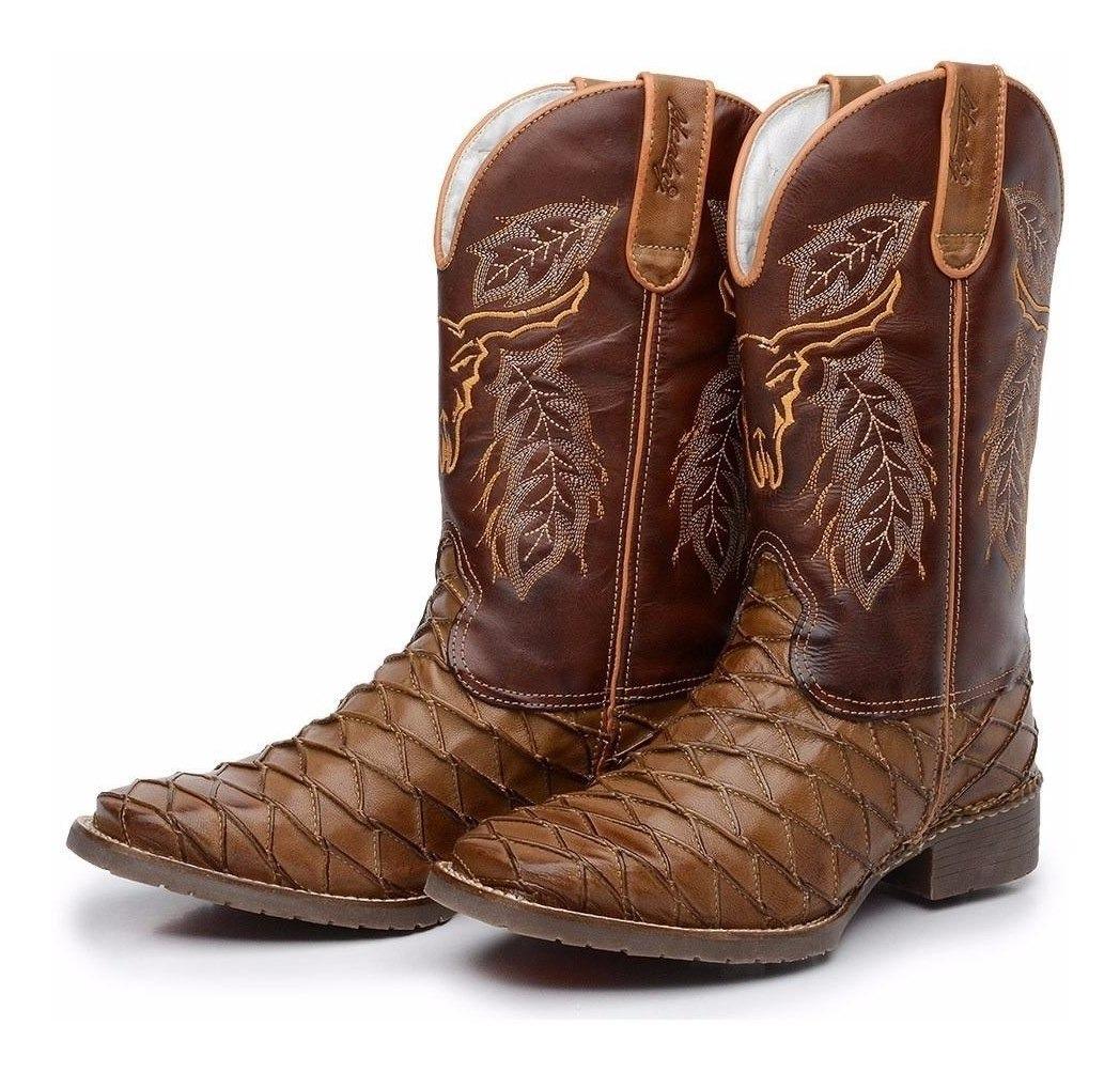 0594bb2dd9 bota country couro rodeio festa peão touro solado blaqueada. Carregando  zoom.