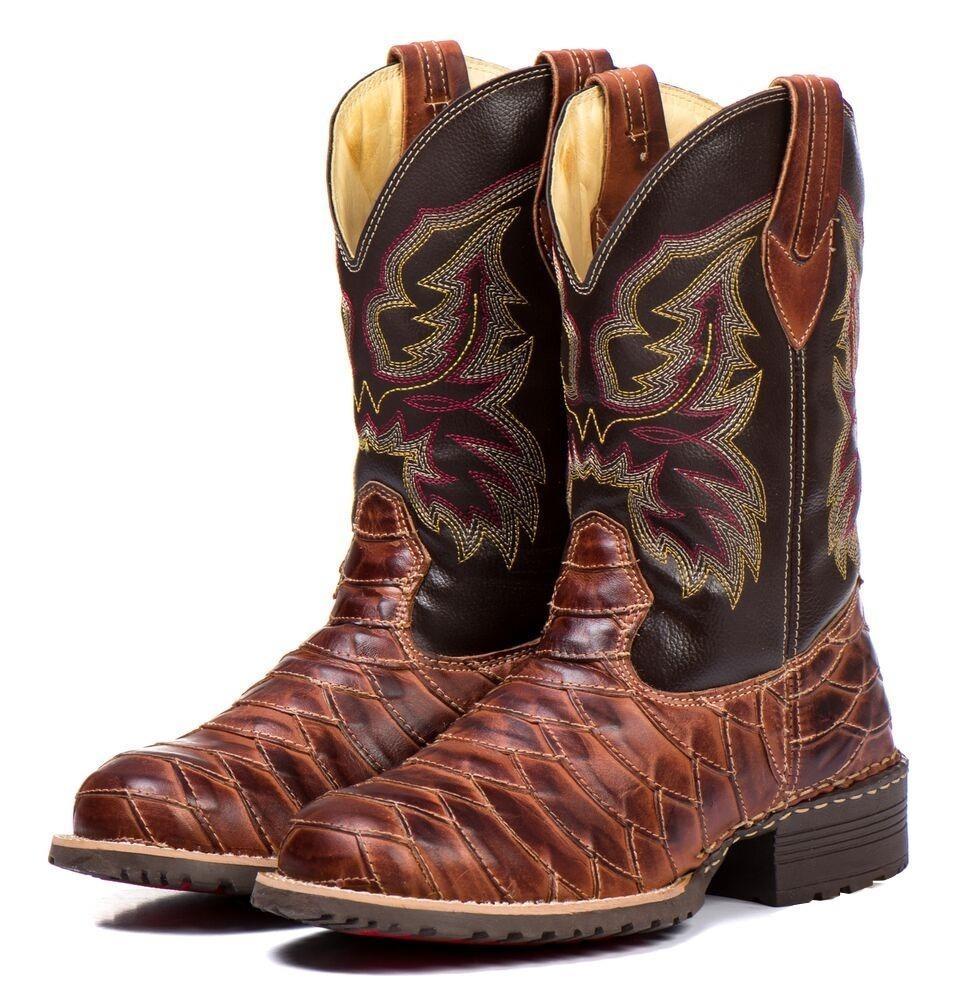bota country escamada masculina cano longo texana 100% couro. Carregando  zoom. f84046271bd