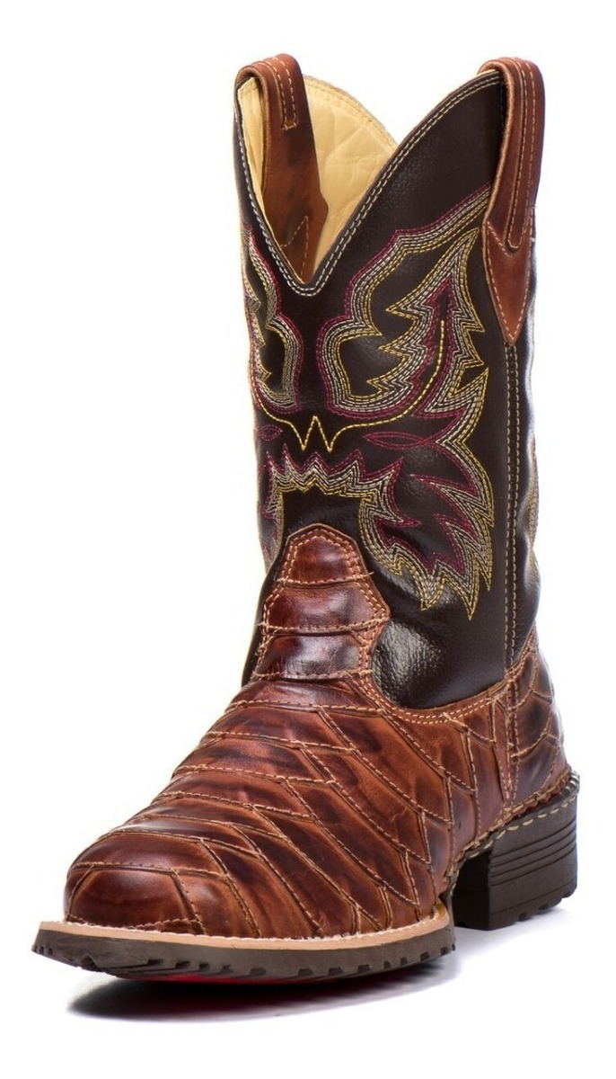 15b0d4e6eb bota country escamada masculina cano longo texana 100% couro. Carregando  zoom.