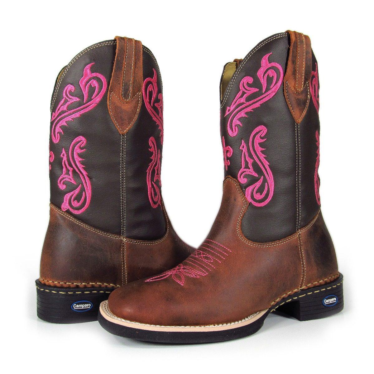 cc835f0af60 bota country feminina bico quadrado cowgirl cano longo. Carregando zoom.