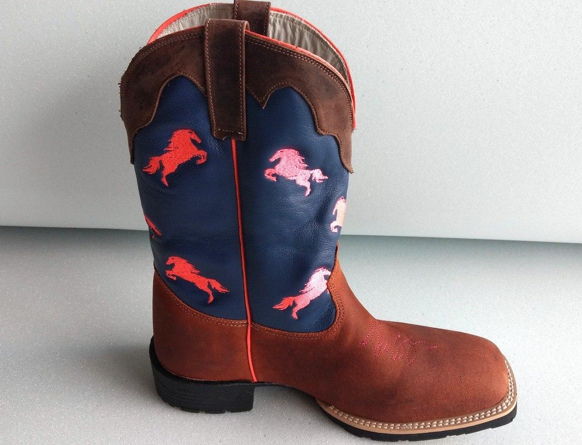 4833d81d96 bota country feminina bico quadrado texana cano longo. Carregando zoom.