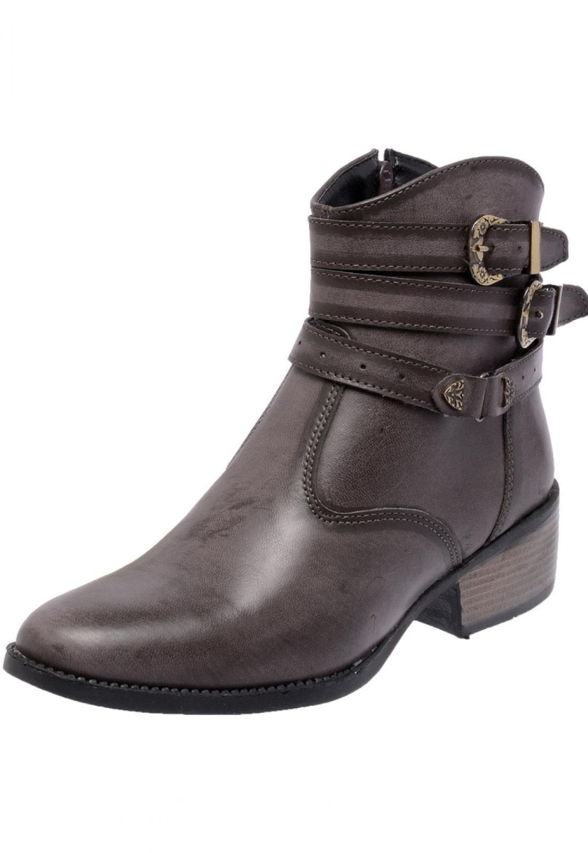 5732c630e bota country feminina cano curto enviamix zíper fivela. Carregando zoom.