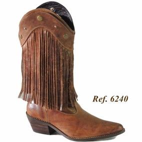 b0760a8efc Botas Femininas Country Com Franja - Calçados, Roupas e Bolsas Marrom com o  Melhores Preços no Mercado Livre Brasil